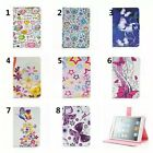 Butterflies Flower Star Leather Smart Sleep/Wake Stand Case Cover Skin For Apple
