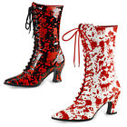 Rocky Horror Fancy Dress 'blood spattered' boots. NEW BOXED UK size 3-9