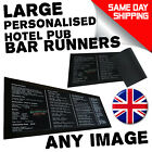 Personalised Bar Runner Beer Mat Beer Party Drip Mat Cocktail Dad birthday gift