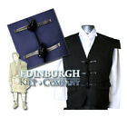 GENTS'  JACOBITE / JACOBEAN KILT WAISTCOAT -  PURE WOOL - COLOUR & SIZE OPTIONS!