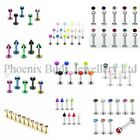 Surgical Steel Labret Monroe Helix Tragus Bar 16g Upper Ear Stud - Choose Style