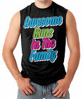 Awesome Runs In The Family - Funny Men's SLEEVELESS T-shirt