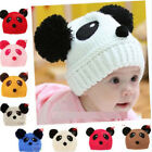 FD1401 Sweet Panda Baby Hats Caps Kids Boy Girl Crochet Beanie Hat Winter Cap ✿