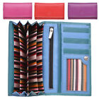 Ladies Large High Quality Multi Colour Leather Envelope Style Purse