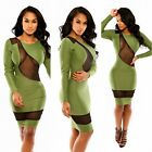 New Womens Hollow Mesh Summer Slim Evening Bodycon Dress Cocktail Clubwear Party