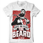 mens have no fear the beard is now  superhero movember funny t shirt