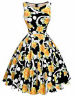 New Arrival! Floral Swing Party Dress 50s Vintage Housewife Ball Gown