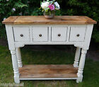 Rustic Oak Console Table Sideboard Drawers Pot Board Painted New F&B Colours