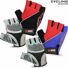Men Cycling Gloves Fingerless Half Finger Bike Bicycle Gel Padded Sports Adibike