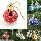 24pcs Christmas Tree Hanger Ball Bauble Hanging Xmas Party Ornament Decoration