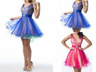 Tulle Short Mini Bridesmaid Dresses Prom Ball Gown Cocktail Evening Dresses 6-16