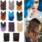 """14"""" 20"""" Halo Ombre Hidden Secret Invisible Wire Hair Extensions Flip On In Hair"""