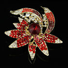 Gold Crystal  Bridal Glass Rhinestone Brooch Pin Bouquet Women Fashion Jewelry