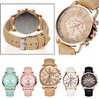 Popular Luxury Girl Ladies Women PU Leather Watchband Sport Quartz Wrist Watch