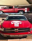 Skull Truck Bed stripe Decal & Large Hood graphic fits Dodge ford chevy Toyota