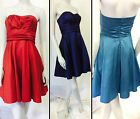 Prom Bridesmaids Xmas Cocktail Party Dress UK Size 6 8 10 12 16 RED or BLUE new