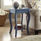 Designs2Go MDF Ella End Table with Bottom Shelf and Curved Legs
