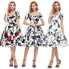 New Vintage 1950s 60s Swing Party Evening Prom Dress STOCK FASHION