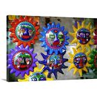 Solid-Faced Canvas Print Wall Art entitled Ceramic suns, Mexico City
