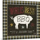 Solid-Faced Canvas Print Wall Art entitled Southern Pride - Best BBQ