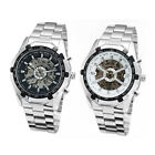 Christmas gift Rotary skeleton Automatic mens stainless steel watch +Buckle
