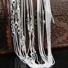 Wholesale Lots Women Fashion 925 Sterling Silver Snake Chain Necklace 16-30