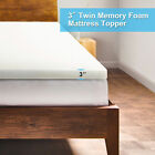 "2"" Uenjoy Comfort Memory Foam Mattress Topper-Twin/Twin XL/Full/Queen/King"