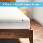 BN 5.5 COMFORT 2 3 4 TWIN FULL QUEEN KING MEMORY FOAM MATTRESS TOPPER