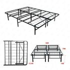 Twin / Full / Queen Bi-Fold Folding Platform Metal Bed Frame Mattress Foundation
