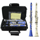 Refined Clarinet Bb 17 Key Senior Beginner Musical Instrument With Case Care Kit