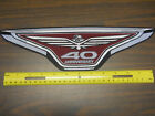 "HONDA GOLDWING 40th ANNIVERSARY EMBROIDERED PATCH 14"" OR 5"""