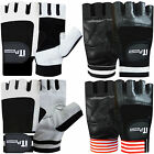 Leather Weight Lifting Gloves Gym Training Exercise Fitness Body Building Gloves