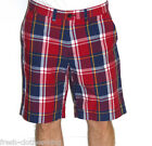 Tommy Hilfiger Shorts New $69.50 Mens Storm Red Plaid Size 34