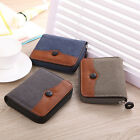 Horizontal Sports Canvas Clutch Checkbook Change Coin Card Bag Men Purse Wallet