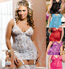 iCollection Lingerie 7670X Plus Size Keira Satin Lace Chemise