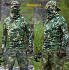 Outdoor Hunting Tactical Camouflage Long Sleeve T-Shirt Hunting Woodland