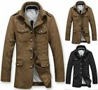 Korean Handsome Men's New Trench Coats Jacket Outwear Military Luxury Overcoat