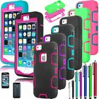 For Apple iPhone 4 Hybrid Rubber Impact Resistant Cover Case Outer Box