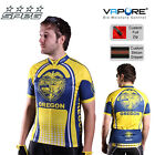 SPEG Oregon Mens Short Sleeve Cycling Jersey Full Zipper 100% Vapore Multi-Color