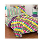 Bedroom Comforter Set 7Pc With Sheets Rainbow Hearts Bed In A Bag Girls Teens
