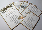 Vintage LOVE HEART Wedding: POSTCARD INVITATION, INSERTS & RSVP; 60 colours