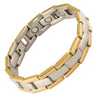 Magnetic Therapy Bracelet Stainless Steel Rare Earth Magnets 2 Tone Executive