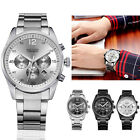 Fashion Luxury Men's Exquisite Stainless steel Band Digital Quartz Wrist Watch