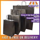 Strong Black Kraft Twisted Handle Paper Carrier Bags! | Shop/Gift/Fashion/Party!