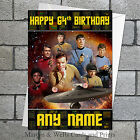 Star Trek birthday card: Original series crew. Personalised, plus envelope. on eBay