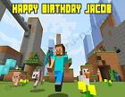 Minecraft Personalized Edible Print Premium Cake Topper Frosting Sheets 5 Sizes
