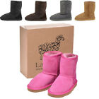 Lambland Kids / Childrens Genuine Sheepskin Boots