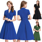 Womens A Line Style Vintage 50's Swing Pinup Housewife Dance Dress