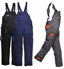 Portwest Texo Contrast Lined Work Wear Painters Bib And Brace Coverall Overall