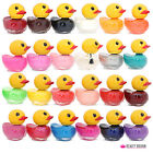 12 x NAIL POLISH VARNISH SET DUCK SHAPED BOTTLES 12 DIFFERENT COLOURS IN DISPLAY